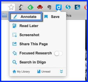 diigo annotate selection